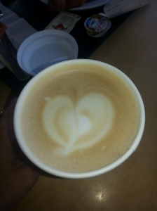 The caffe latte made special