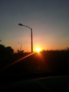 sun setting....